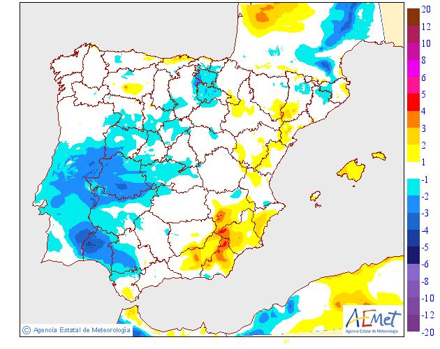 Variación de temperaturas máximas AEMET. 13 Meteosojuela