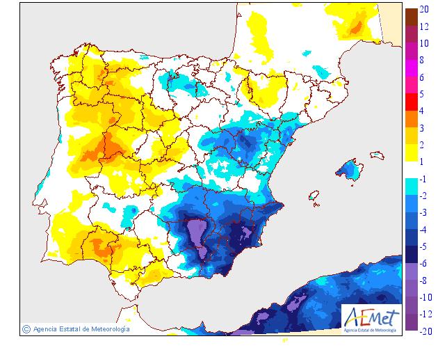Variación de temperaturas máximas AEMET. 27Meteosojuela