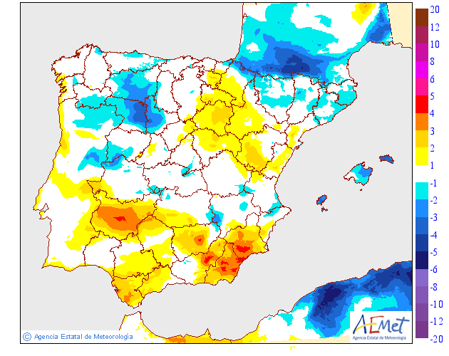 Variación de temperaturas máximas AEMET. 28 Meteosojuela