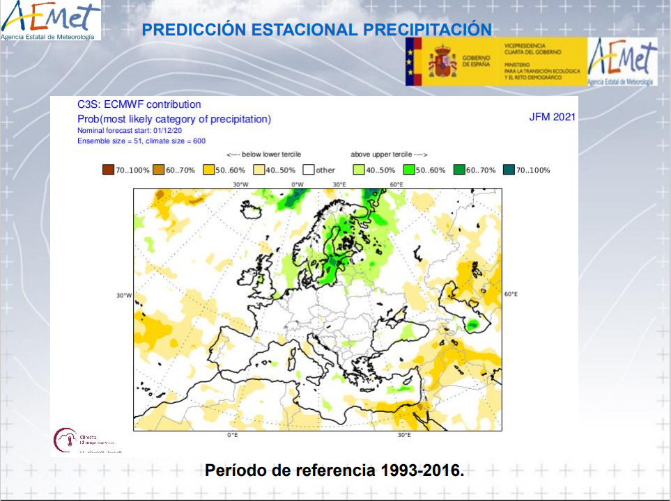 Anomalía Precipitación Invierno en La Rioja. AEMET. Meteosojuela