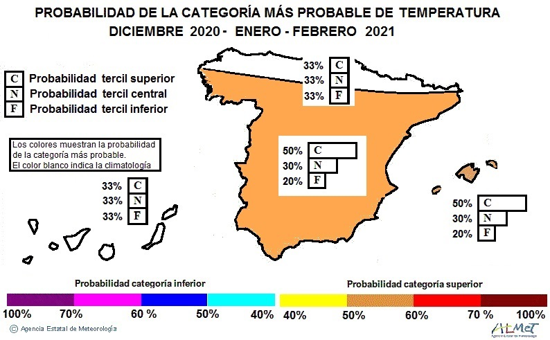 Anomalía Temperatura Invierno 2021. NOAA. Meteosojuela