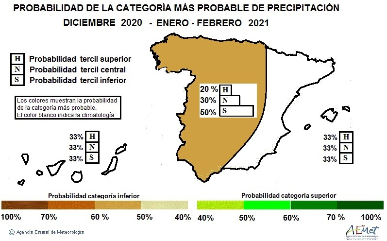 Anomalía Temperatura Precipitación 2021. NOAA. Meteosojuela