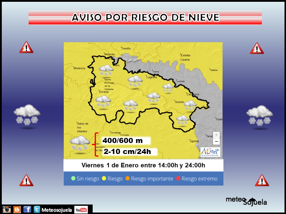 Aviso Amarillo por Nieve. AEMET 01 Meteosojuela