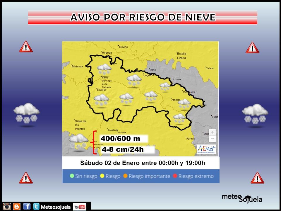 Aviso Amarillo por Nieve. AEMET 02 Meteosojuela