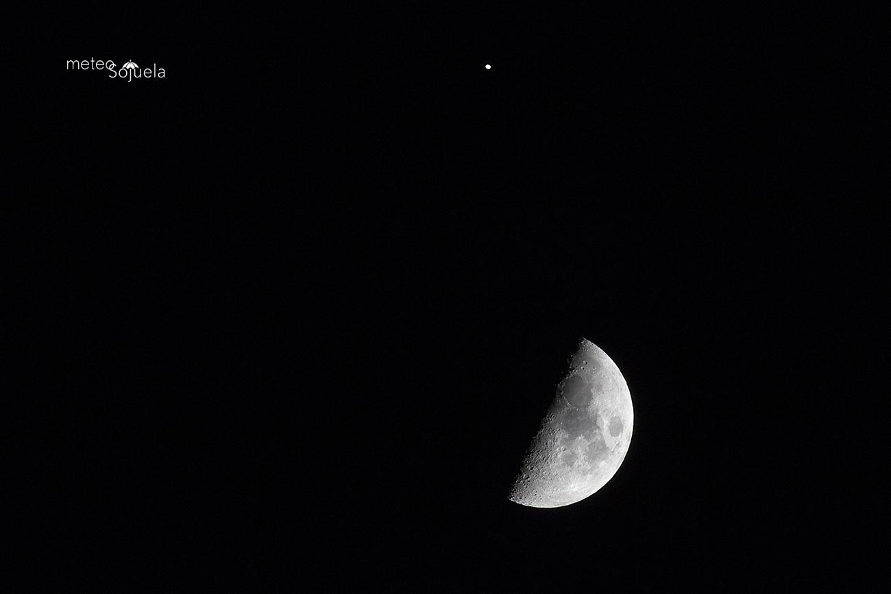 Conjunción Luna y Saturno. Meteosojuela
