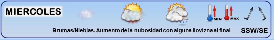 📆 14/12/2020 😇 San JUAN de la Cruz #tiempo #semana #LaRioja 👉  VARIABLE ☁️ NIEBLAS matinales y orográficas Alternancia de cielos ☁️ NUBOSOS con ☔️ PCPs en la llegada de frentes; con momentos 🌤️ MAS SOLEADOS 🌤️ tras su paso 🌬️ Vientos del SW/SE 🌡 Tªs SUAVES ⬆️  📘 +INFO https://meteosojuela.esLeyenda. Iconos, simbolos tiempo en La Rioja. Meteosojuela La Rioja 23