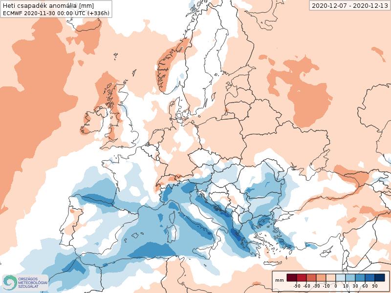 Modelos de Precipitación semanal Diciembre ECMWF 2ª Semana .Meteosojuela La Rioja