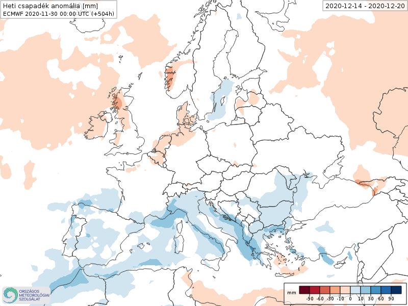 Modelos de Precipitación semanal Diciembre ECMWF 3ª Semana .Meteosojuela La Rioja