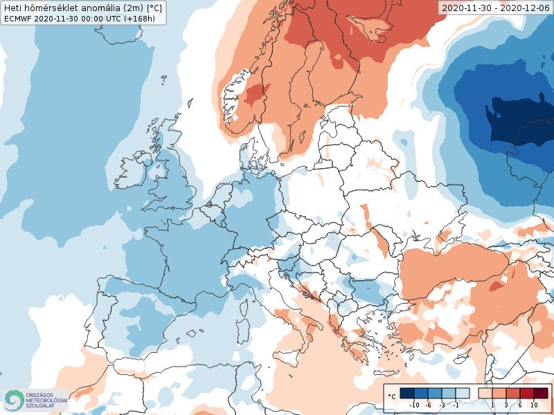Modelos de Temperatura semanal Diciembre ECMWF 1ª Semana .Meteosojuela La Rioja