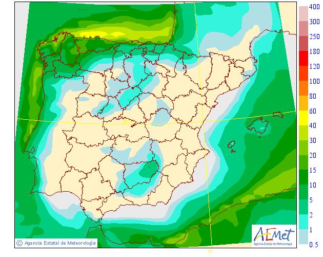 Precipitación Media según AEMET. 05 Meteosojuela La Rioja