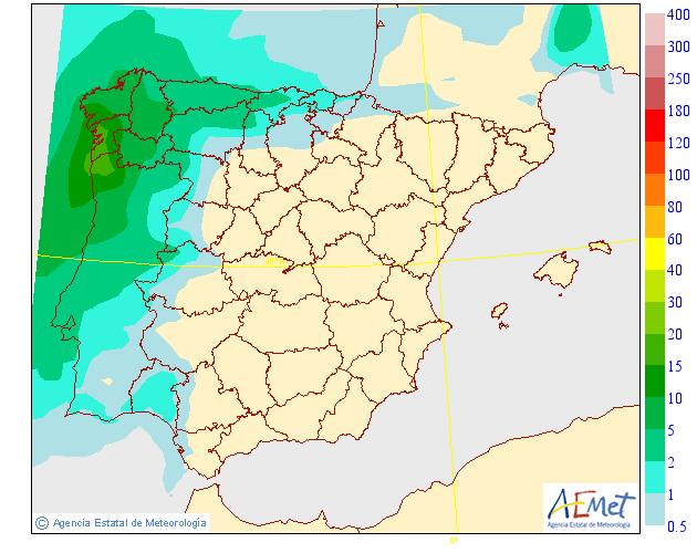 Precipitación Media según AEMET. 22 Meteosojuela La Rioja