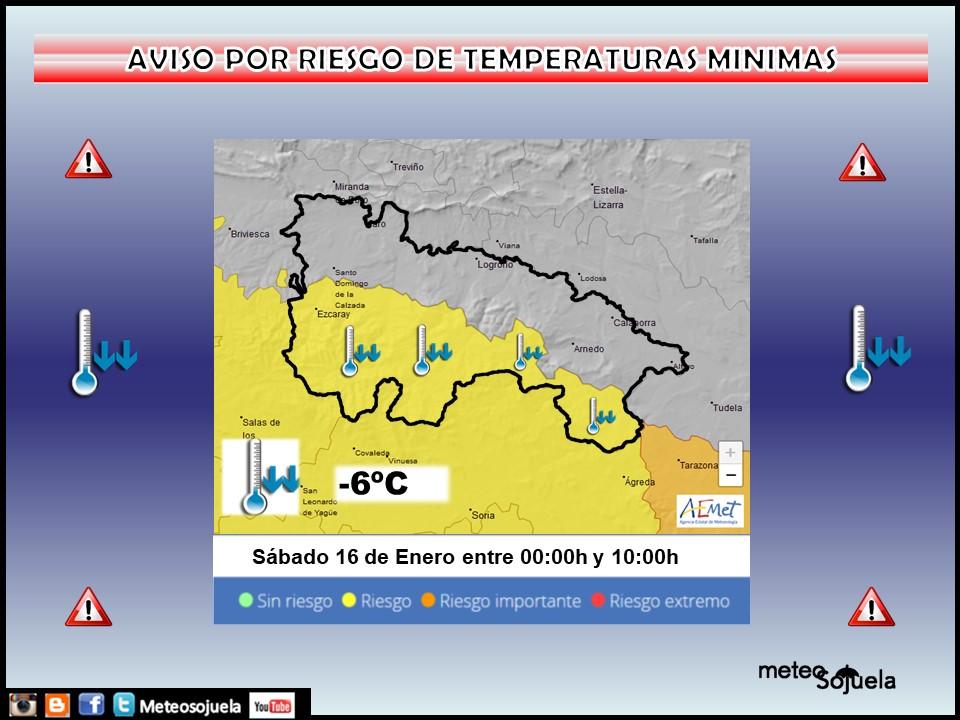 Aviso Amarillo por Frío en la Ibérica. AEMET 16 Meteosojuela