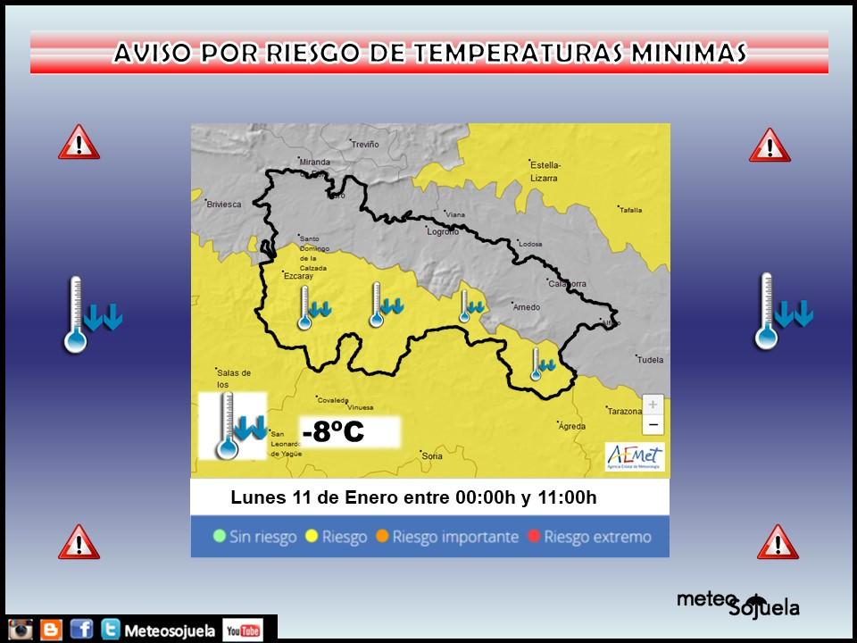 Aviso Amarillo por Frío en toda la región. AEMET Meteosojuela