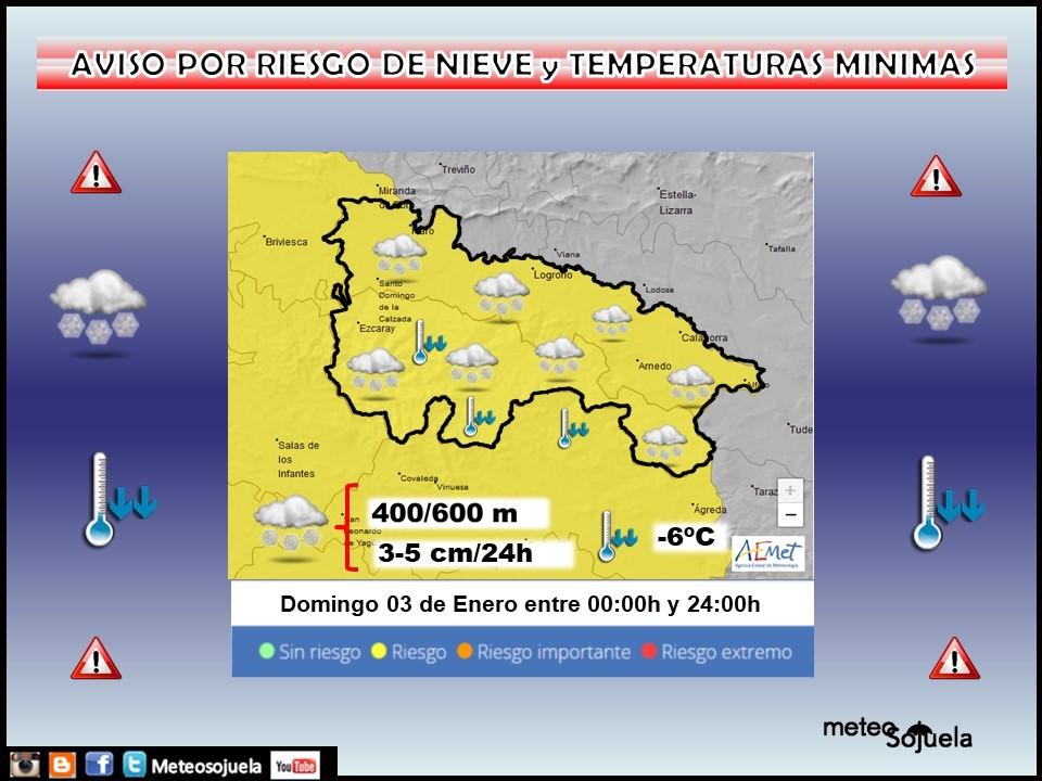 Aviso Amarillo por Nieve. AEMET 03 Meteosojuela