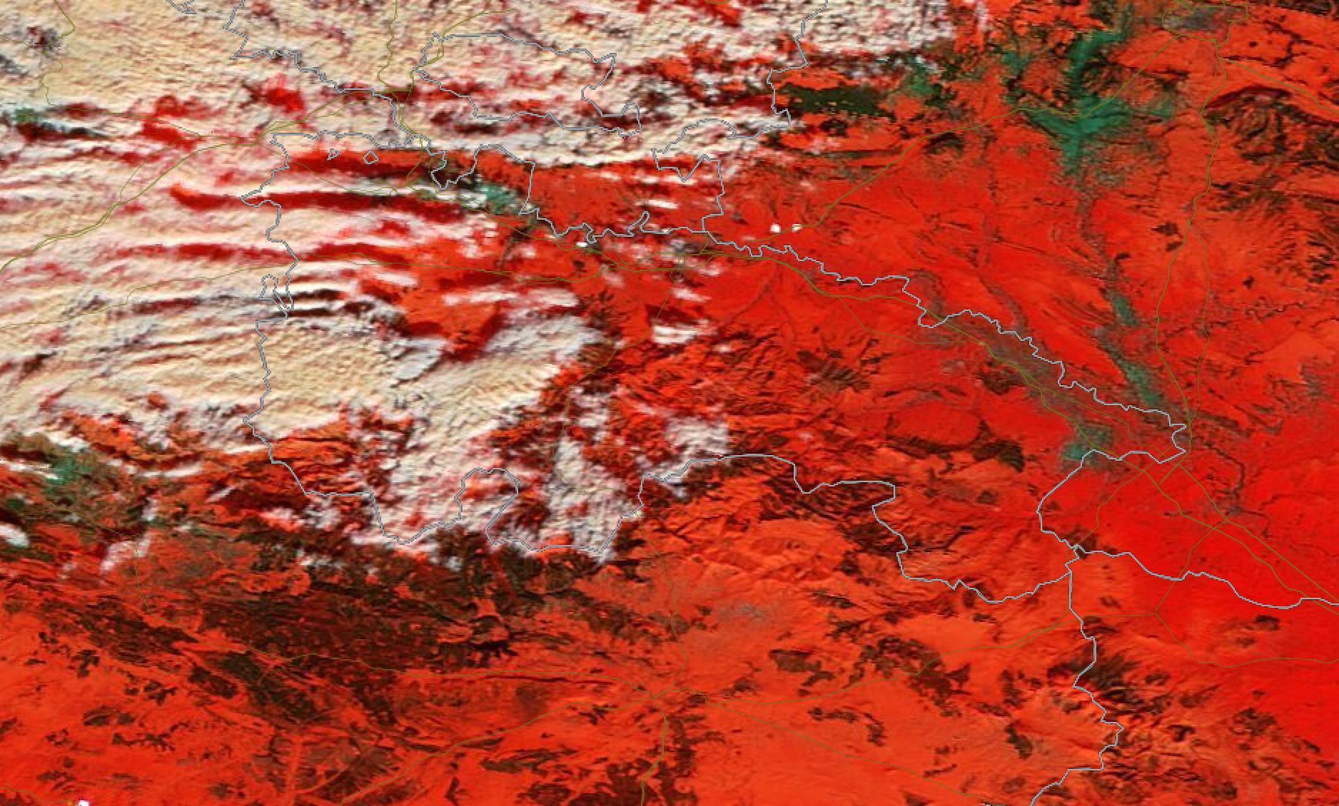 Cobertura Nivosa satélite Modis. LA RIOJA postfilomena. Meteosojuela.