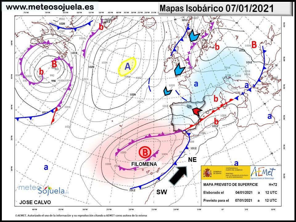 Borrasca Filomena. ¿Temporal de nieve en La Rioja? Analizamos la situación  | Meteosojuela.es