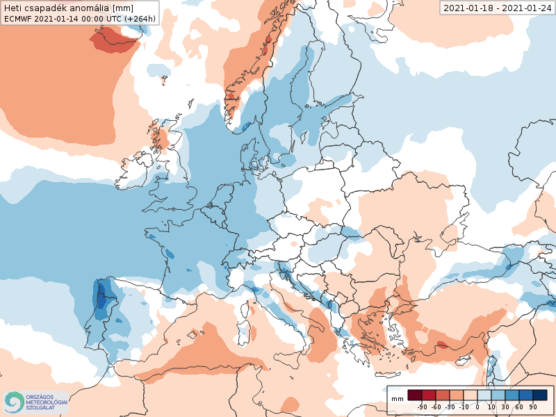 Modelos de Precipitación semanal Enero ECMWF 3ª Semana .Meteosojuela La Rioja