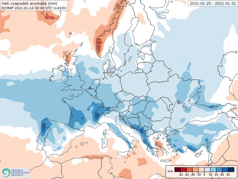 Modelos de Precipitación semanal Enero ECMWF 4ª Semana .Meteosojuela La Rioja