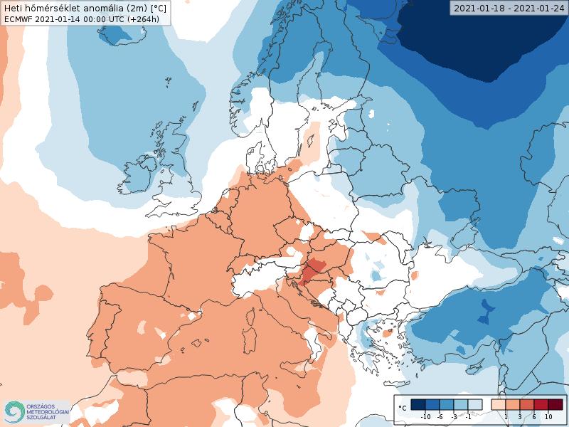 Modelos de Temperatura semanal Enero ECMWF 3ª Semana .Meteosojuela La Rioja