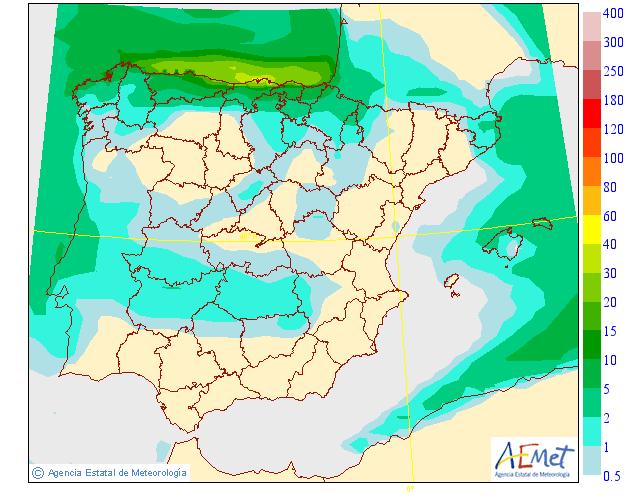 Precipitación Media según AEMET. 04 Meteosojuela La Rioja