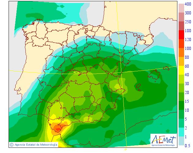 Precipitación Media según AEMET. 08 Meteosojuela La Rioja