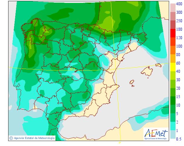 Precipitación Media según AEMET.30 Meteosojuela La Rioja