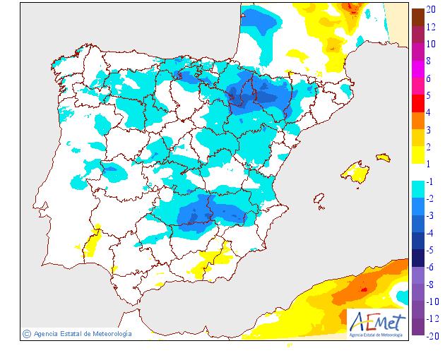 Variación de temperaturas máximas 04 AEMET. Meteosojuela