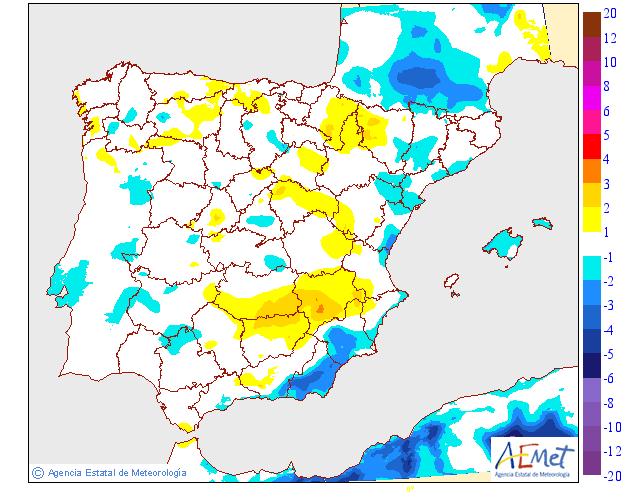 Variación de temperaturas máximas 05 AEMET. Meteosojuela