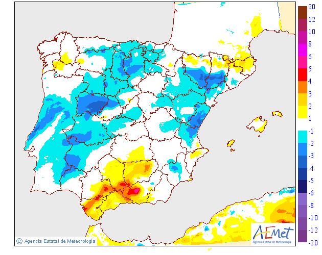 Variación de temperaturas máximas 08 AEMET. Meteosojuela