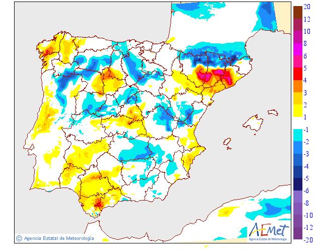 Variación de temperaturas máximas AEMET.15 Meteosojuela