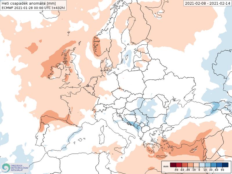 Modelos de Precipitación semanal Febrero ECMWF 2ª Semana .Meteosojuela La Rioja