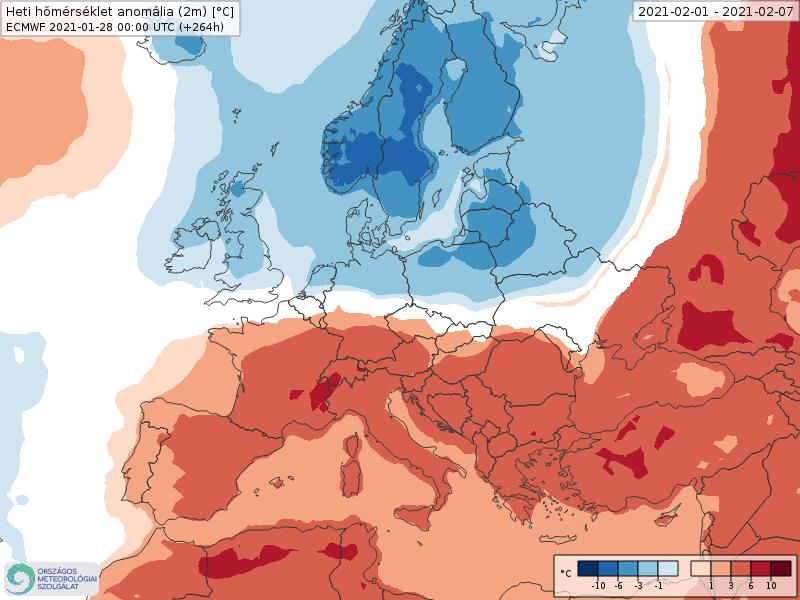 Modelos de Temperatura semanal Febrero ECMWF 1ª Semana .Meteosojuela La Rioja