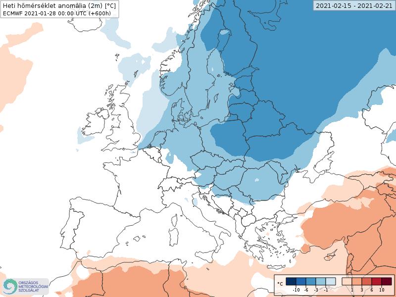 Modelos de Temperatura semanal Febrero ECMWF 3ª Semana .Meteosojuela La Rioja