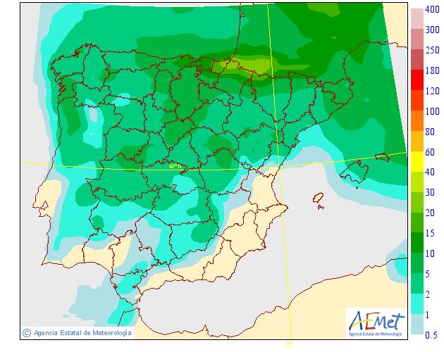 Precipitación Media según AEMET. 12 Meteosojuela La Rioja