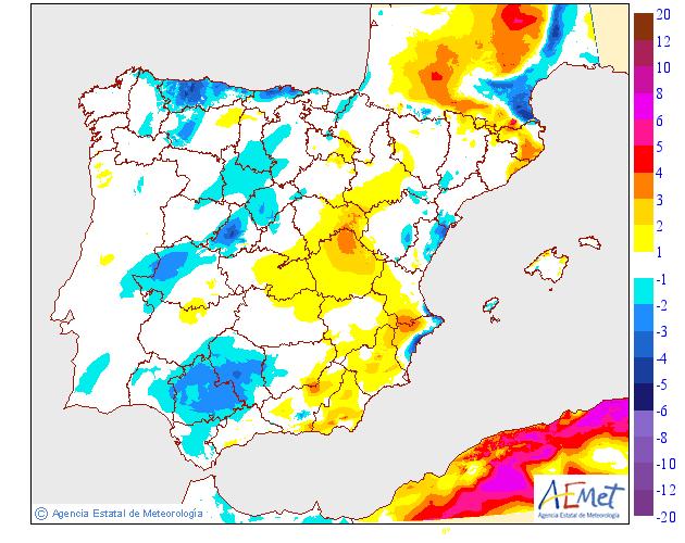 Variación de temperaturas máximas 03 AEMET. Meteosojuela
