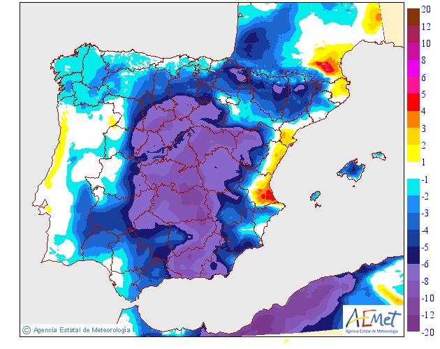 Variación de temperaturas máximas AEMET. 06 Meteosojuela