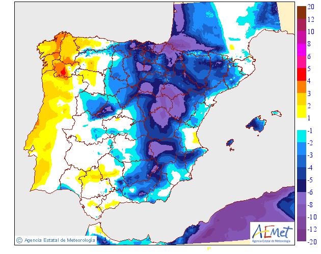 Variación de temperaturas máximas AEMET.22 Meteosojuela