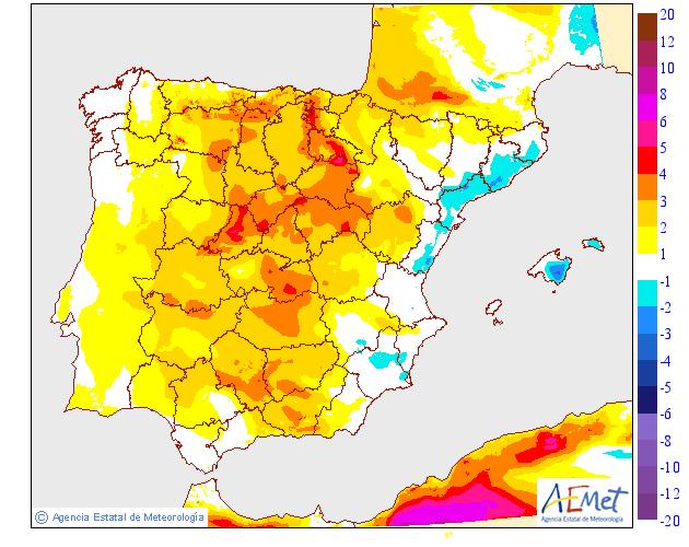 Variación de temperaturas máximas AEMET.24 Meteosojuela