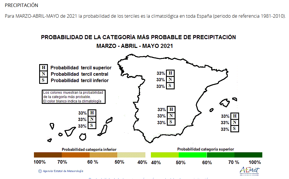 Anomalía Precipitación Primavera 2021. Meteosojuela
