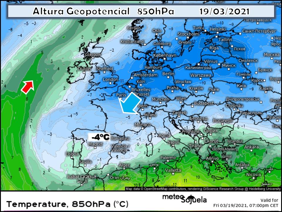Modelos Altura Geopotencial 850 hPa.