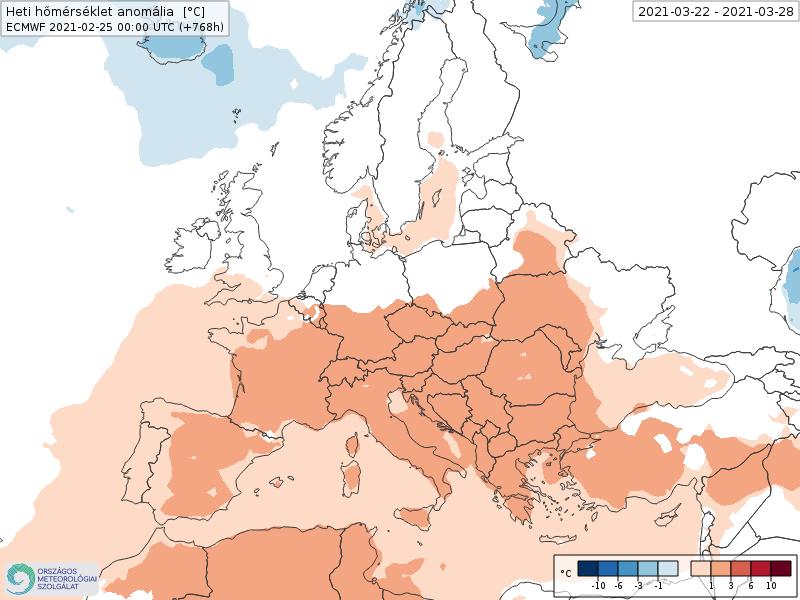 Modelos de Temperatura semanal Marzo ECMWF 4ª Semana .Meteosojuela La Rioja