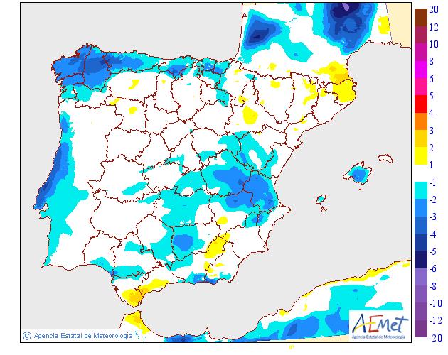 Variación de temperaturas máximas AEMET. 07 Meteosojuela