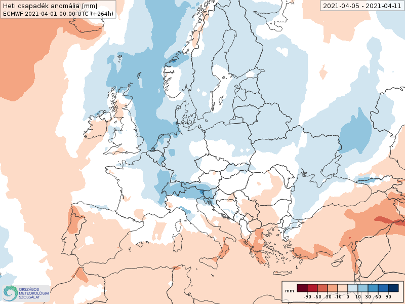 Modelos de Precipitación semanal Abril ECMWF 1ª Semana .Meteosojuela La Rioja