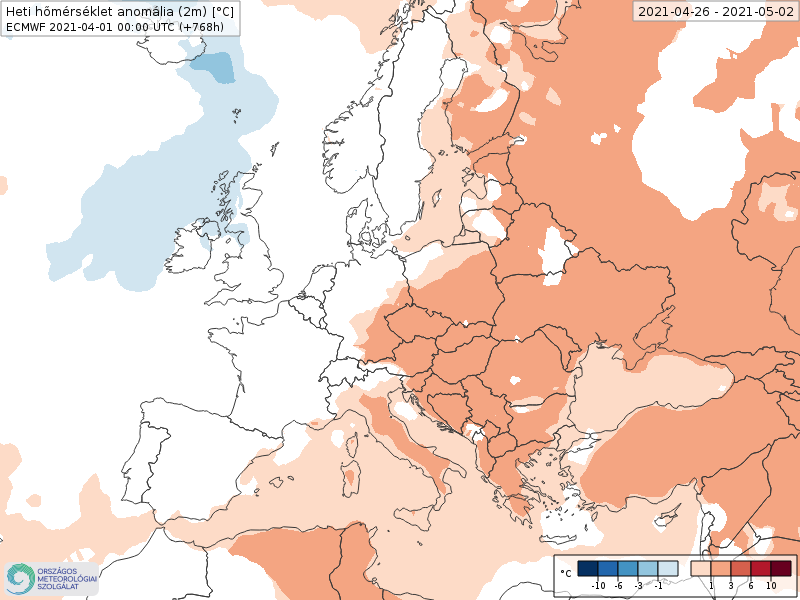 Modelos de Temperatura semanal Abril ECMWF 4ª Semana .Meteosojuela La Rioja