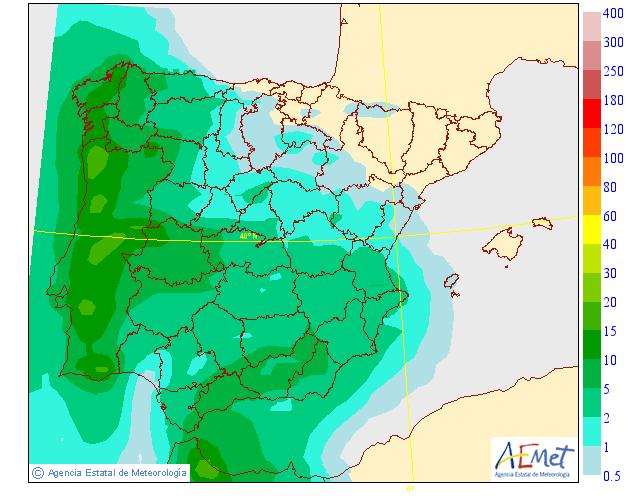 Probabilidad de precipitación según AEMET. 24 Meteosojuela La Rioja