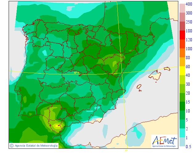 Probabilidad de precipitación según AEMET. 26 Meteosojuela La Rioja