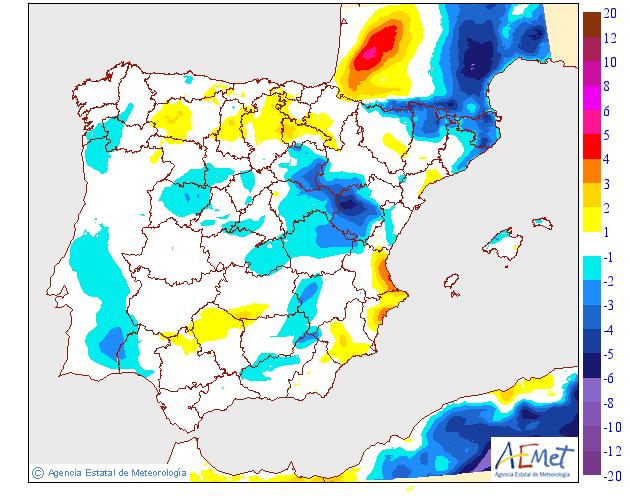 Variación de temperaturas máximas AEMET. 01 Meteosojuela