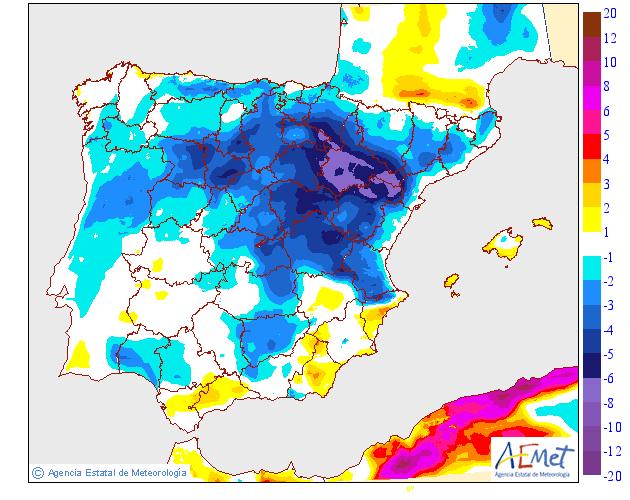 Variación de temperaturas máximas AEMET. 09Meteosojuela