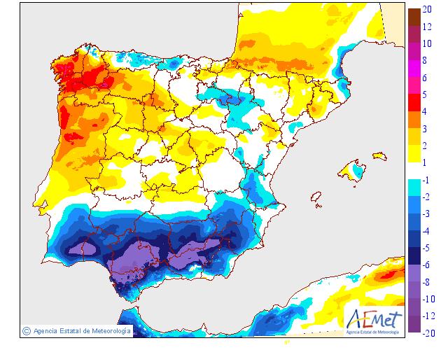 Variación de temperaturas máximas AEMET.14 Meteosojuela