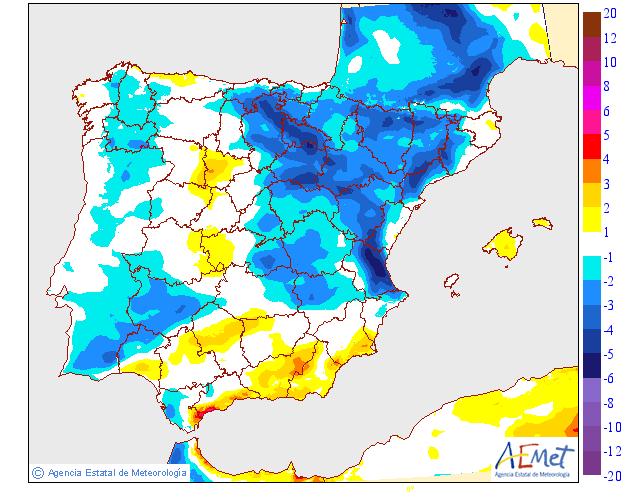 Variación de temperaturas máximas AEMET.20 Meteosojuela